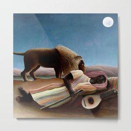 "Henri Rousseau ""The Sleeping Gypsy"" Metal Print"