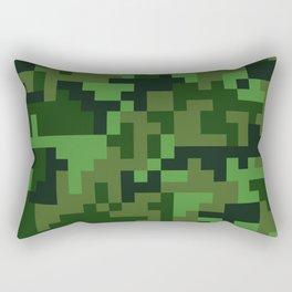 Green Jungle Army Camo pattern Rectangular Pillow