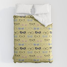 1950's Specs on Chartreuse Comforters
