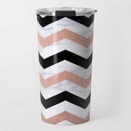 Luxury Trendy Chevron Travel Mug