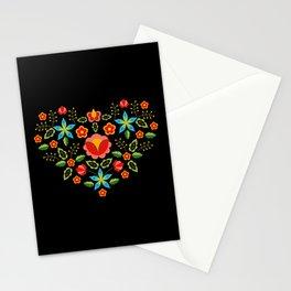 Polish Folk Pattern – Flowers embroidery from Krakow's vests Stationery Cards