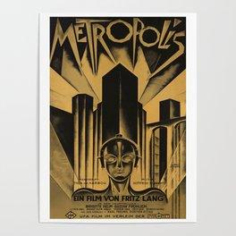 Metropolis, Fritz Lang, 19, vintage movie poster Poster