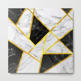 Abstract Marble-Invert Metal Print