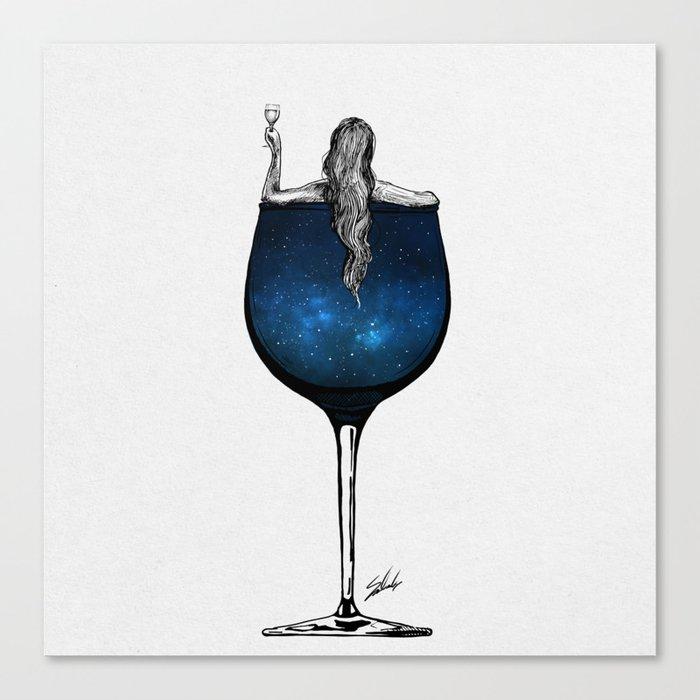 Wine night. Leinwanddruck