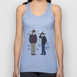 Dean vs. Jess Unisex Tank Top