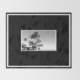 Palm Trees Poipu Throw Blanket