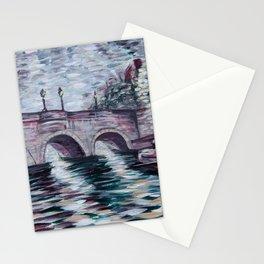 Pont Neuf - The Bridges of Paris, France - Acrylic painting Stationery Cards