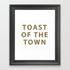 Kate Spade - Toast of the Town Framed Art Print