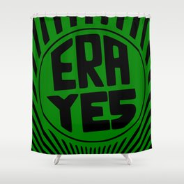 ERA YES - Green and Black Shower Curtain