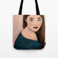 iris Tote Bags featuring Iris by Sofia Azevedo