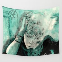 kpop Wall Tapestries featuring B.A.P's ZELO by Worldandco