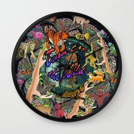 Turn Up The Wild Wall Clock