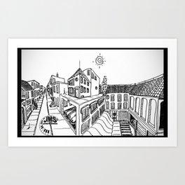 Perspective Drawing Mug in Original Sharpie Art Print