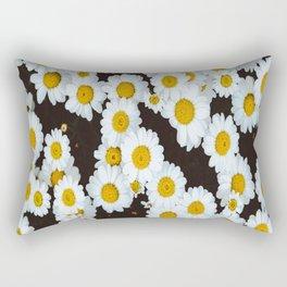 Daisy Flower Design Rectangular Pillow