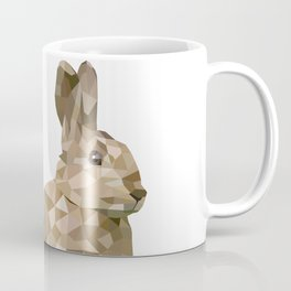 Rabbit Bunny  Geometric animal art Coffee Mug