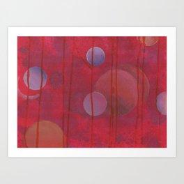 reddish sphere Art Print