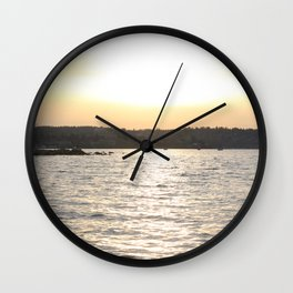 Kits Beach Sunset 2 Wall Clock