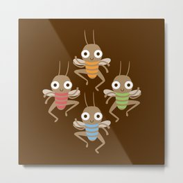 Dancing crickets Metal Print