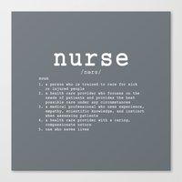 nurse Canvas Prints featuring NURSE by IDMP