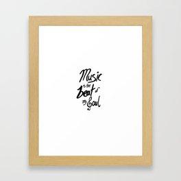 Listen to the Music Framed Art Print