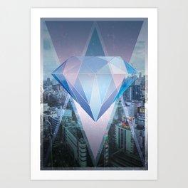 tokyo's Diamond Art Print