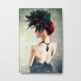 Madame Peacock Metal Print