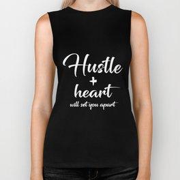 Hustle and Heart Tank Top Girl Boss Running hustle Biker Tank