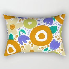 Bold Abstract Floral Inspired Pattern (Harvest Colors) Rectangular Pillow