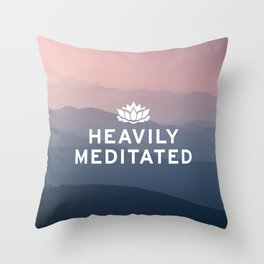 Heavily Meditated Throw Pillow