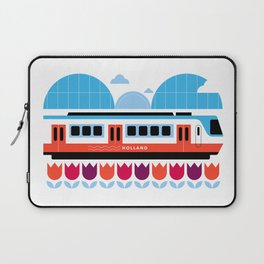 Postcards from Amsterdam / Train and Tulips Laptop Sleeve