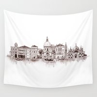 venice Wall Tapestries featuring Venice by Justine Lecouffe