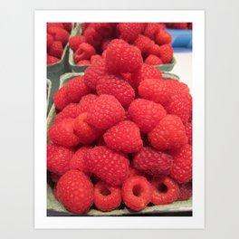 Raspberry Stack Art Print