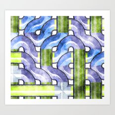 Pipelines watercolor Art Print