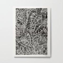 Schismatoglottis Calyptrata – Black Palette Metal Print