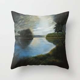 River Muse Throw Pillow