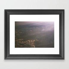 sky from phoenix to san francisco Framed Art Print