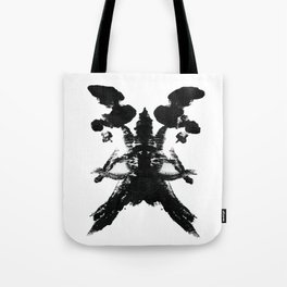 Abstract Skull Therapy Print Tote Bag