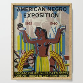 Vintage African American Negro Exposition Poster Advertisement Serving Tray