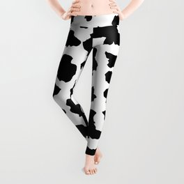 Spotted Moo Cow Dutch Holstein Animal Spots in Black and White Leggings