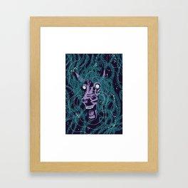 Beware  of the kelpie Framed Art Print