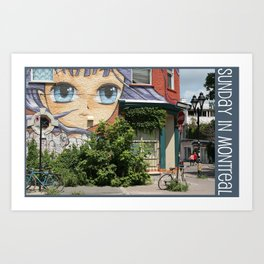 Photo: Sunday in Montreal (14 July 2013) Art Print