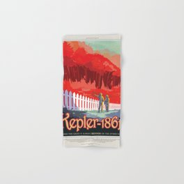 NASA Visions of the Future - Kepler-186f Hand & Bath Towel