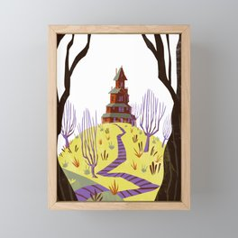 Lone House on the Hill Framed Mini Art Print