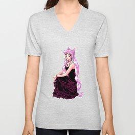Black Lady in Black dress - Chibiusa Sailormoon Unisex V-Neck