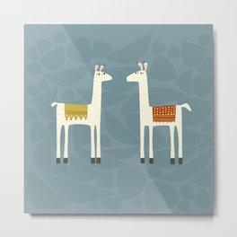Everyone lloves a llama Metal Print