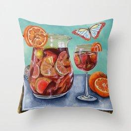 Sangria Summer Throw Pillow