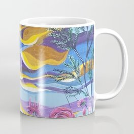 Pretty in Pink, Pink floral landscape, Abstract Landscape Coffee Mug
