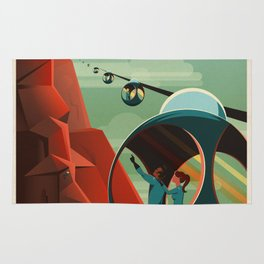 SpaceX Mars tourism poster / Olympus Mons Rug