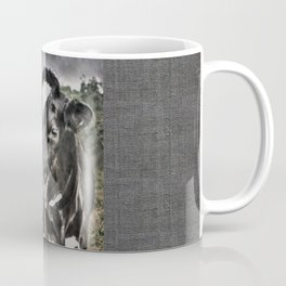 Melancholic Black White Dutch Cow Coffee Mug