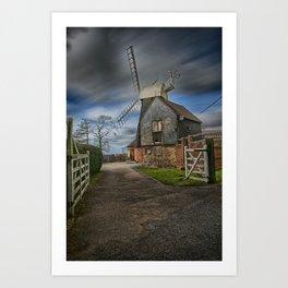 Charing Hill Mill Art Print